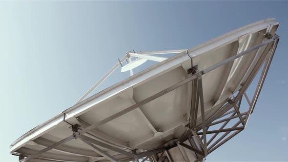 TV Station Broadcast Dish Antenna. 4K Version.