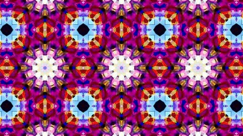 Colorful Stained Glass Kaleidoscope Loop 4K 12