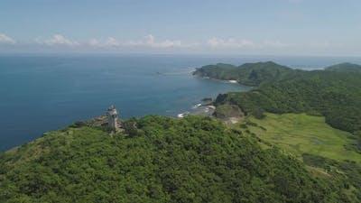 Lighthouse in Cape Engano . Philippines, Palau Island