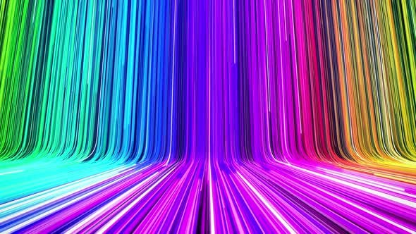 Rainbow Lights Background