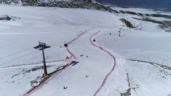Cover Image for Aerial View Of The Ski Resort