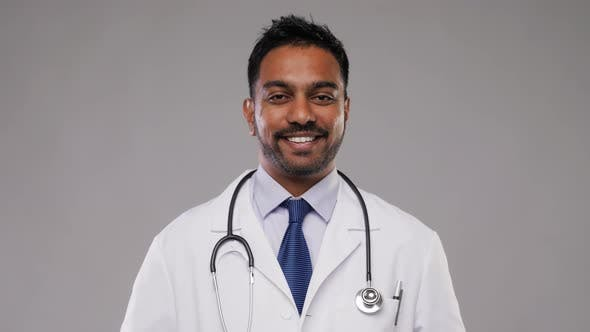 Thumbnail for Smiling Indian Male Doctor with Stethoscope 7