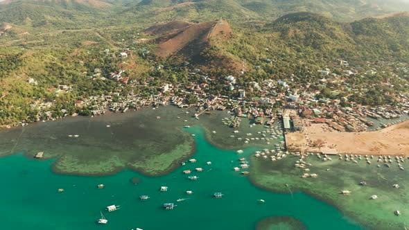 Thumbnail for Coron Town Aerial View. Philippines, Palawan, Busuanga