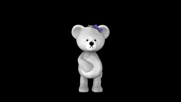 White Teddy Toy Girl