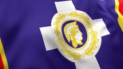 Athens City Flag (Greece) - 4K