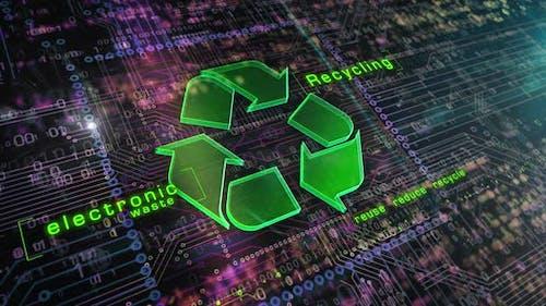 Digitale Animation des Recycl
