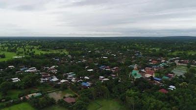 Aerial View Farmer Flield