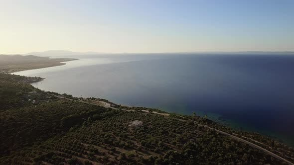 Thumbnail for Flying From Green Coast To Blue Sea, Greece