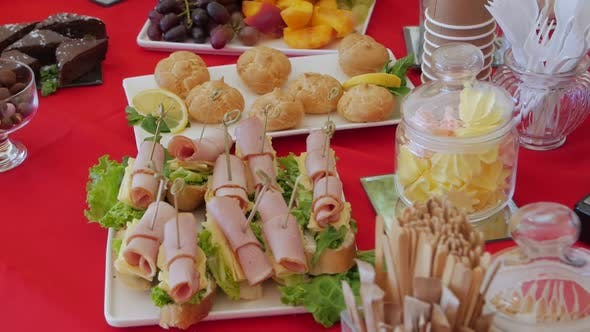 Catering Snack Table Closeup