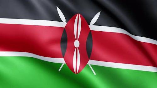 Kenyan flag | Flag of Kenya | UHD | 60fps