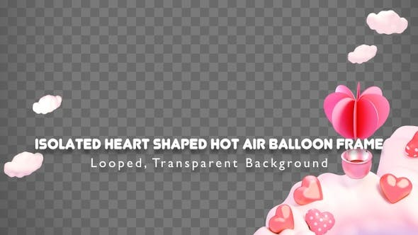 Thumbnail for Isolated Heart Shaped Hot Air Balloon Frame