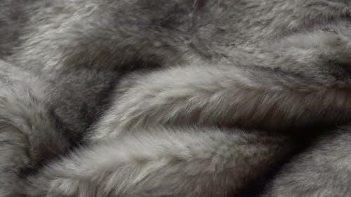 Rotierende Pelzmantel Stoffe