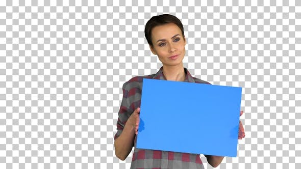 Thumbnail for Casual Woman with Short Hair with Blue, Alpha Channel