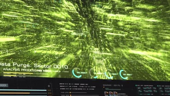 Thumbnail for Futuristic Matrix Cyber Environment 03