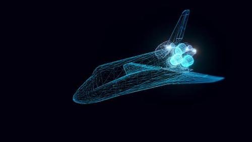 Space Shuttle Hologram Rotating Hd