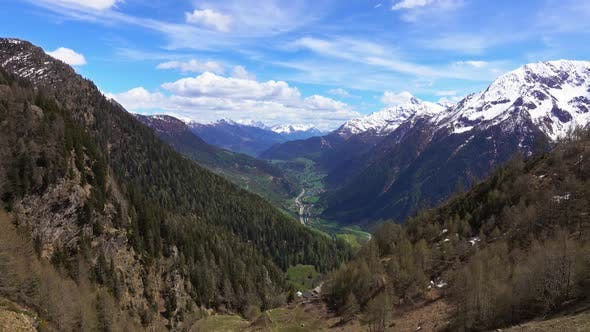 Thumbnail for High Snow Mountains and Valley in Switzerland