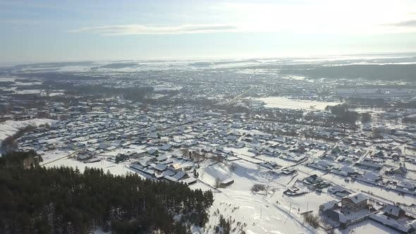 Thumbnail for Winter Small Town From Above