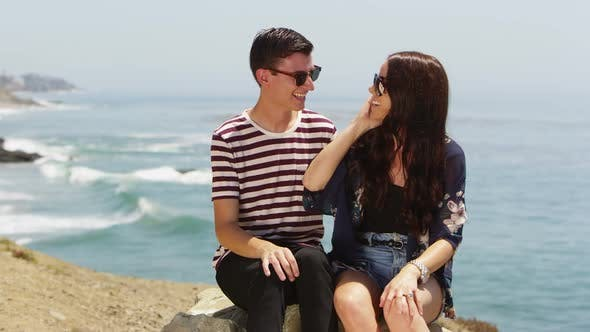 Thumbnail for Young couple at the beach