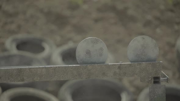 Thumbnail for Iron Targets During the Shooting.