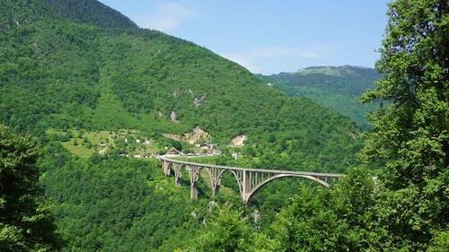 Djurdjevica Arch Bridge Over Tara River