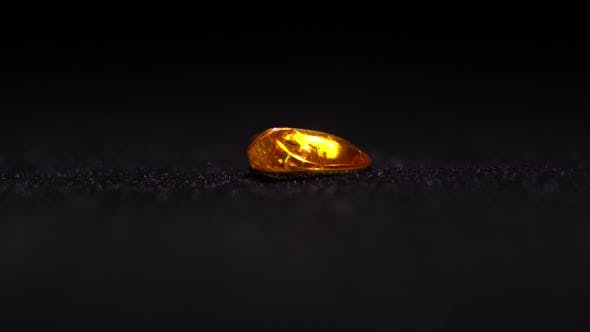Thumbnail for Baltic Amber With Insects Macro Rotating