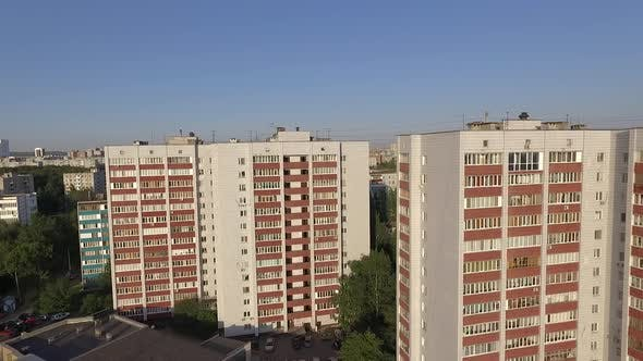 Thumbnail for An Aerial View of Three Similar Looking Multi Storey Buildings