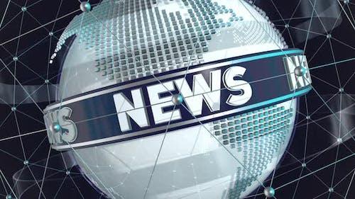 Broadcast News Looping Background Looping
