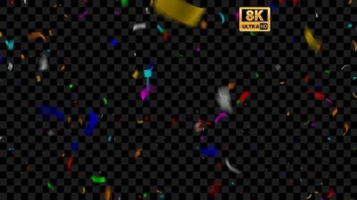 Confetti Party Loop 8K