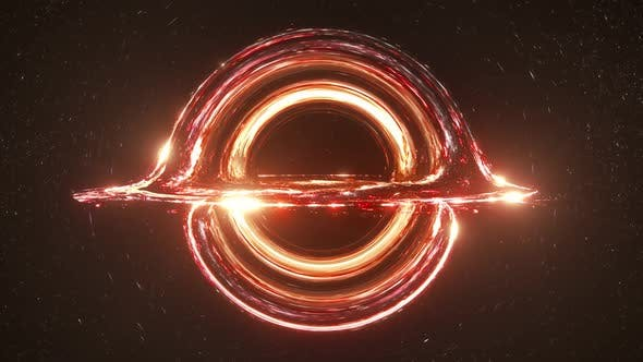 Thumbnail for Red Black Hole Simulation Seamless Loop