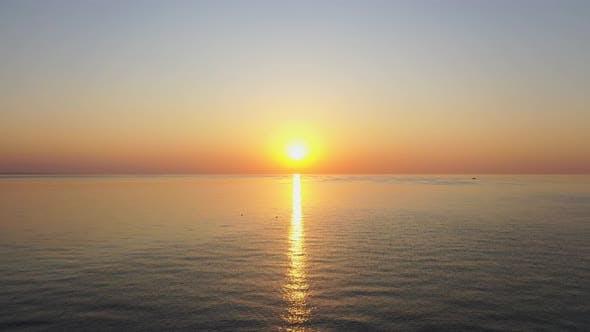 Cover Image for Aerail View Dawn Mediterranean Sea