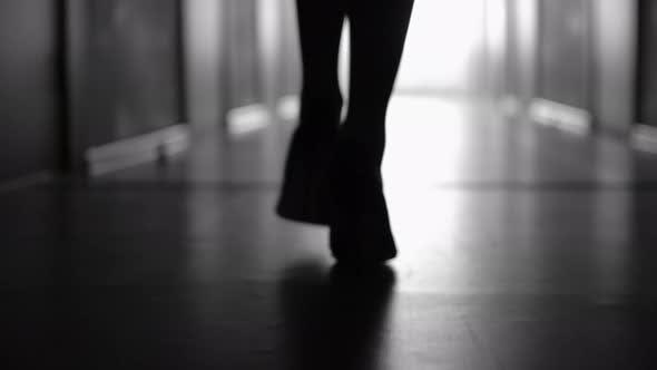 Thumbnail for Silhouette of Female Legs in High Heels Walking