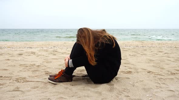 Thumbnail for The Girl has a Rest on the Sea Beach