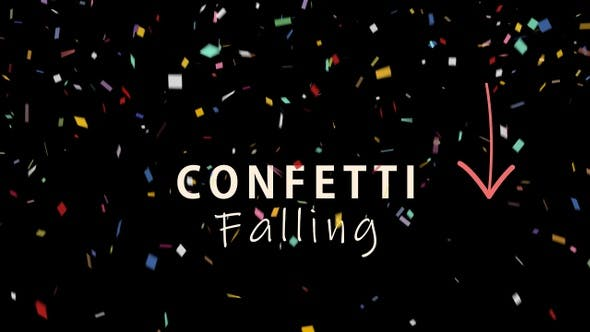 Thumbnail for Multi Colored Confetti Falling