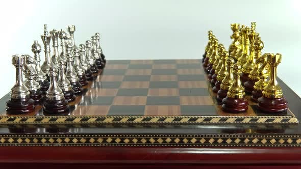Thumbnail for Chess Figures on the Chessboard on the White Background