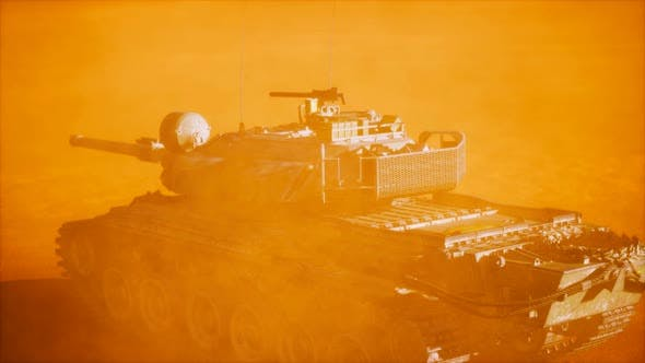 Thumbnail for World War II Tank in Desert in Sand Storm