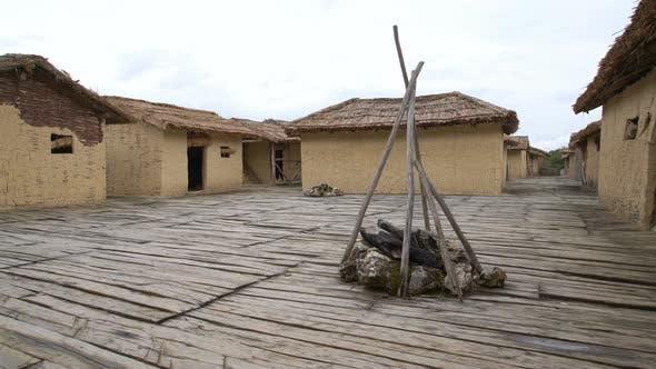 Ohrid Bay of Bones, Prehistoric Tribal Village Kaserne Ruinen, Mazedonien
