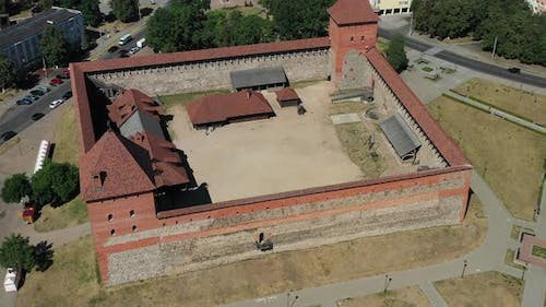 Bird'seye View of the Medieval Lida Castle in Lida