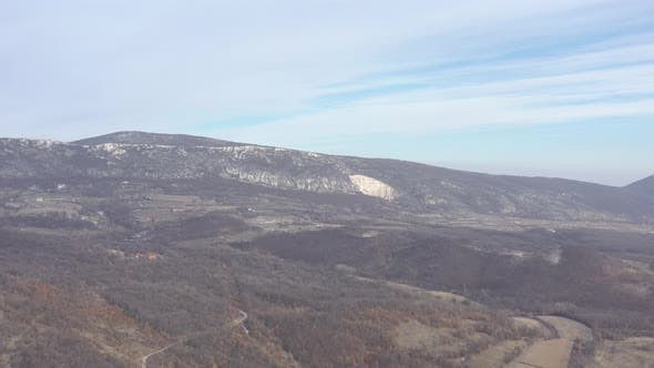 Thumbnail for Mountain ranges in Eastern Serbia by winter 4K aerial footage