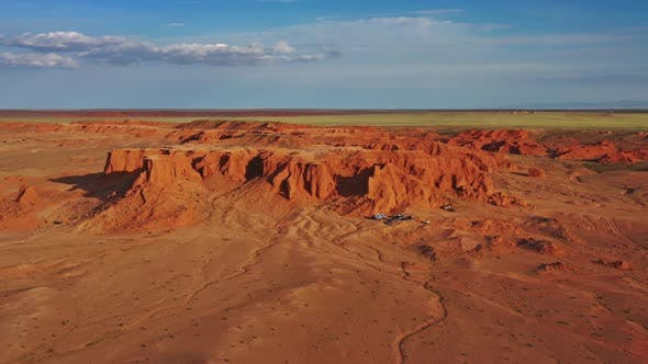 Thumbnail for Bayanzag Flaming Cliffs at Sunset in Mongolia