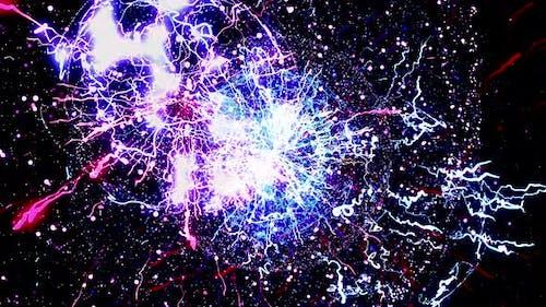 Abstrakte starke Explosion