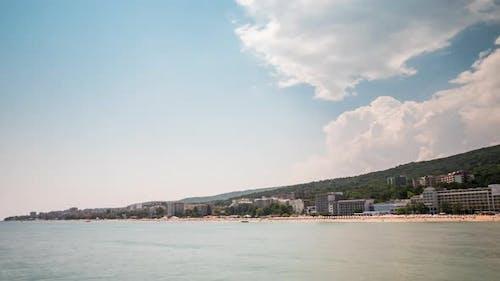 Timelapse of Beautiful Beach Resort in Europe