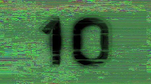 Digital Glitch Countdown 10 To 1