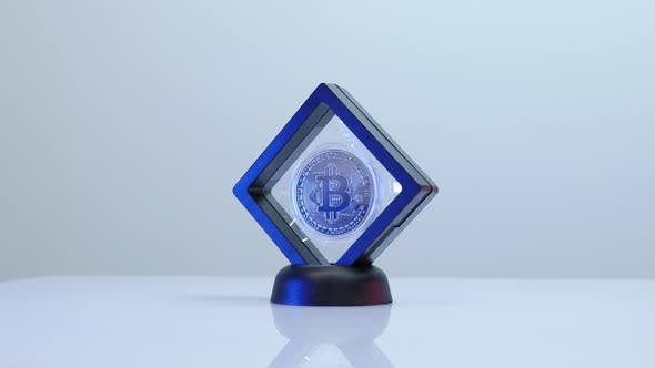 BTC bitcoin isolated on white background. Stock exchange.