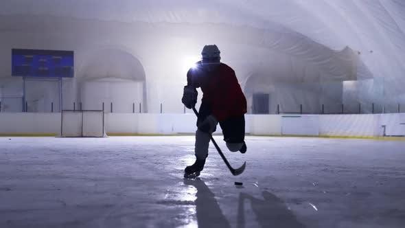 Silhouette Hockey Player