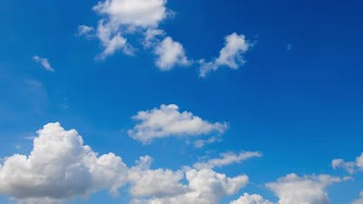 Blue sky and white clouds timelapse