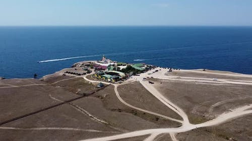 Bird'seye View of the Openair Dolphinarium on the Crimean Peninsula Russia