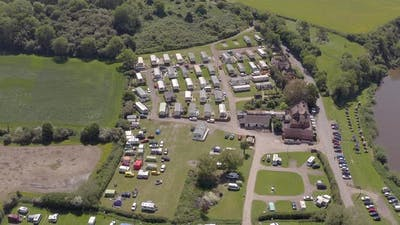 A Rural Campsite in the Summer Seen From The Air