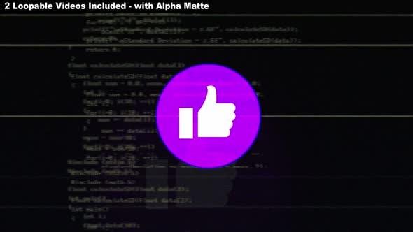 Thumbnail for Glitch Like Emoji Package