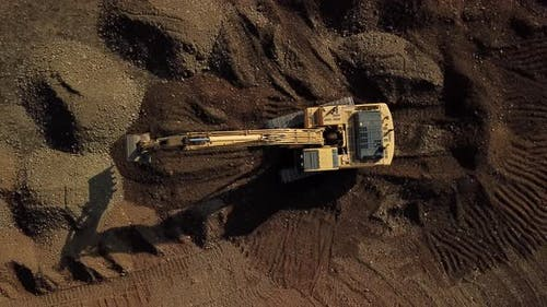 Crawler Excavator Working at the Construction Site