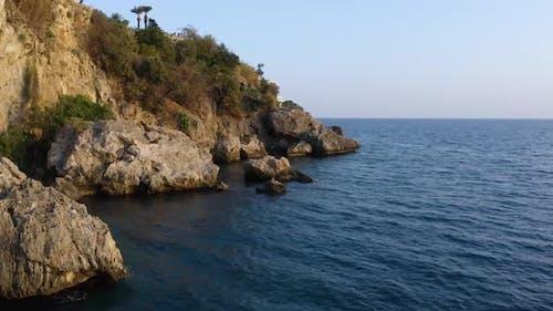 Seascape with the Mediterranean Rocky Coastline